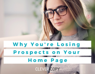 Don't lose prospects on your home page. Use a USP.