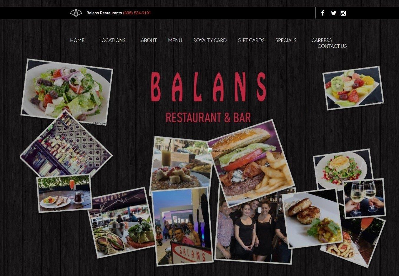 Restaurant website copywriting